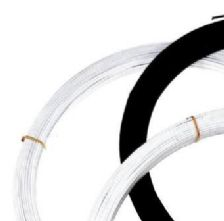 1.25mm Firm White Stainless Steel Milliners Wire x 10m